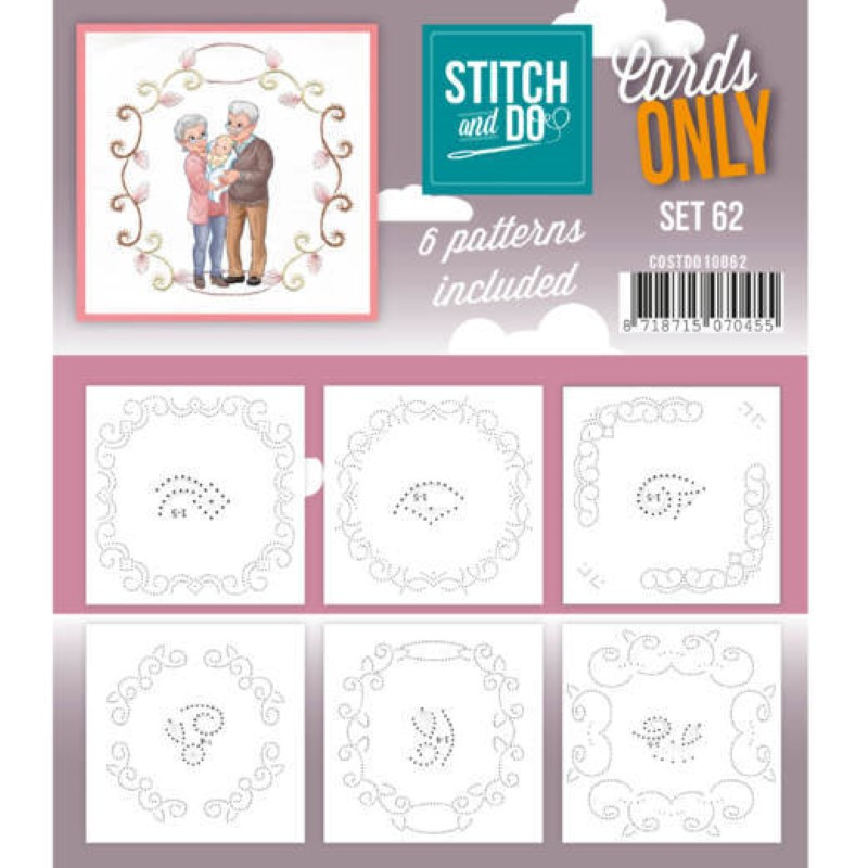 Cartes seules Stitch and do  - Set n°62
