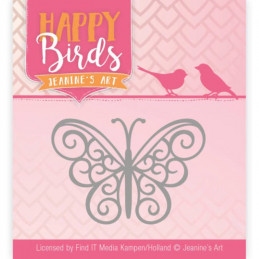 Jeaninnes art - JAD10096 - Happy Birds - Papillon filigrane