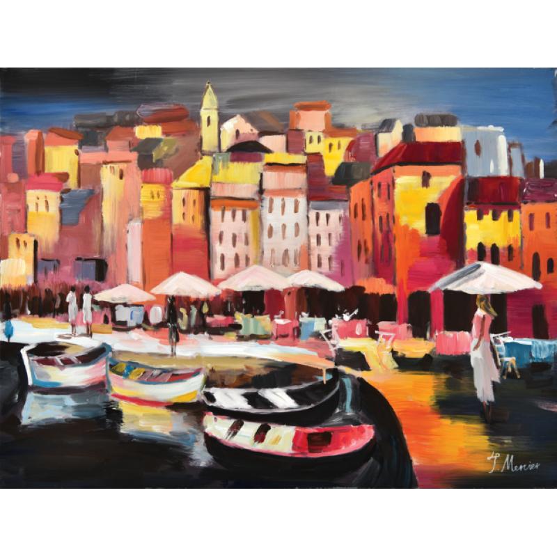 Toile Port coloré 60 x 80 cm