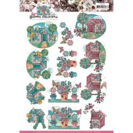 Carte 3D à découper - CD11436 - Kitschy Lala - Jardin