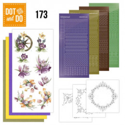 Dot and do 173 - kit Carte 3D  - Fleurs de printemps mauves
