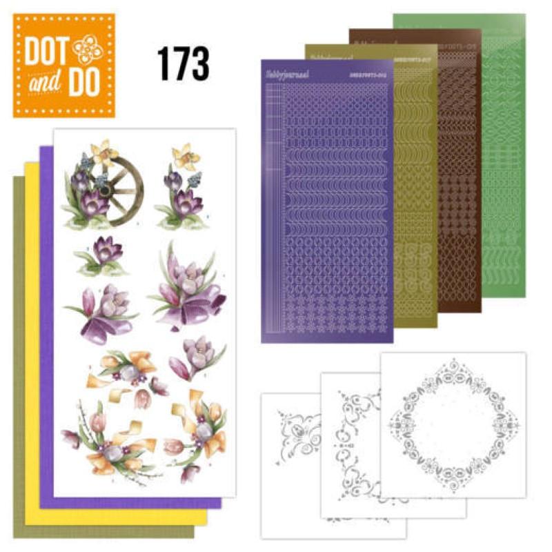 Dot and do 173 - kit Carte 3D  - Fleurs de printemps mauves