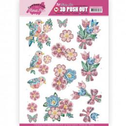 Carte 3D prédéc. - SB10413 - Kitschy Lala - Fleurs