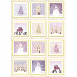 Carte prédécoupée - PCT1004 - Décos Noël cadres