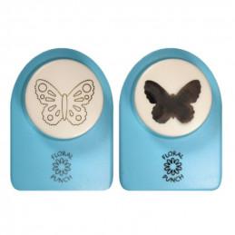 Kit perfo+embosse papillon moyen 2,5 cm