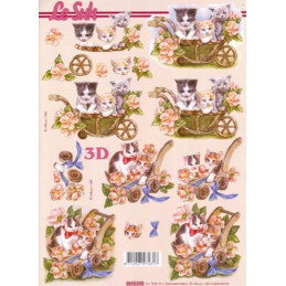 Carte 3D à découper - 8215270 - chats