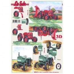 Carte 3D à découper - 821511 - Tracteurs