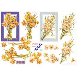 Carte 3D à découper - 8215147 - Bouquets Fleur jaunes