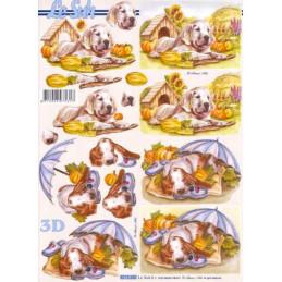Carte 3D à découper - 8215280 - Chiots labrador/basset