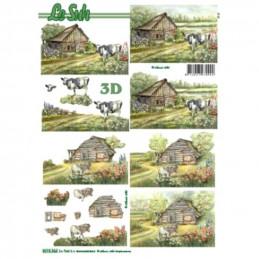 Carte 3D à découper - 8215366 - Vache et poney