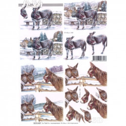 Carte 3D à découper - 8215407 - 3 ânes
