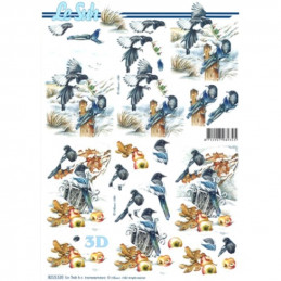 Carte 3D à découper - 8215520 - Couple d'oiseaux