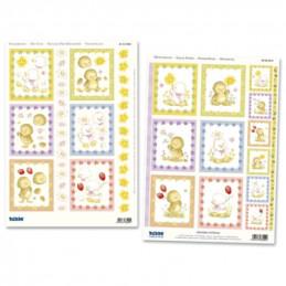 Carte 3D prédéc. - A4 - 83545 - recto/verso -  Poussin de Pâques