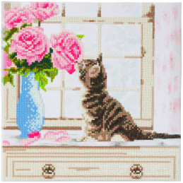 Broderie diamant Crystal Art Kit tableau 30x30cm Chatons