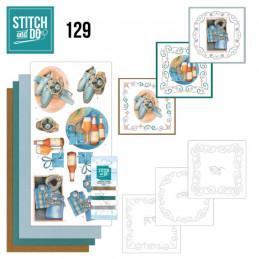 Stitch and do 129 - kit Carte 3D broderie - Cadeaux pour Hommes