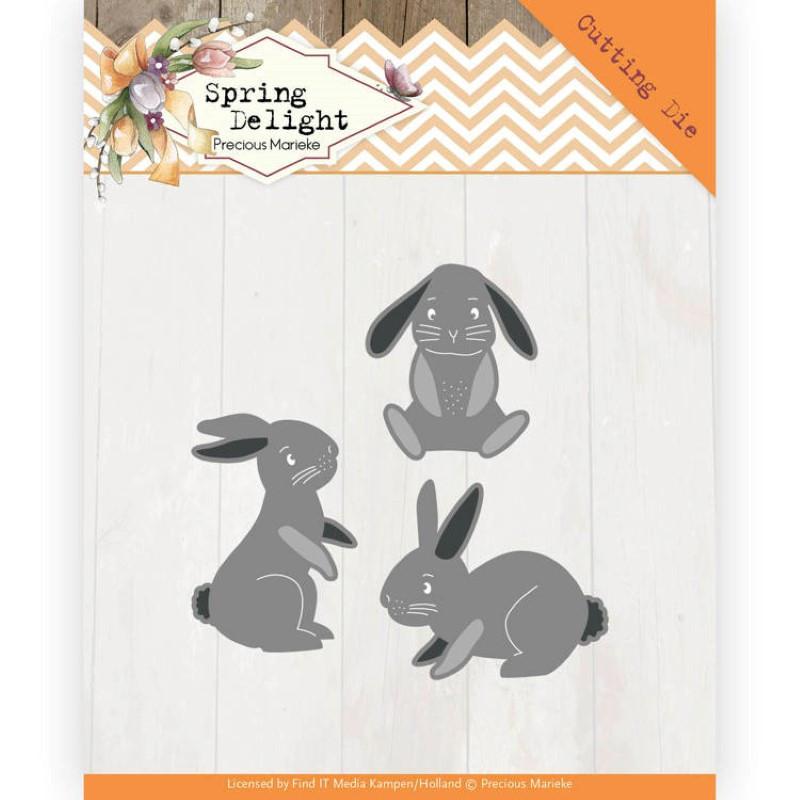 Dies - PM10115 - Spring Delight - Lapins 3 à 4 cm