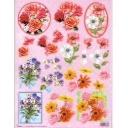Carte 3D prédéc. - Cadres n°18 - Fleurs