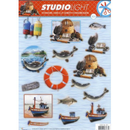 Carte 3D prédéc. - n°301- Bateaux et pêche