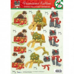 Carte 3D prédéc. - n°326 - Chats à Noël