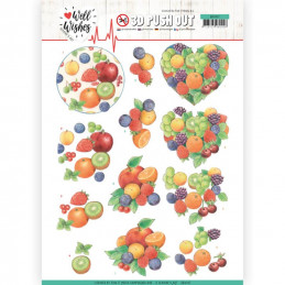 Carte 3D prédéc. - SB10427 - Well Wishes - Les fruits