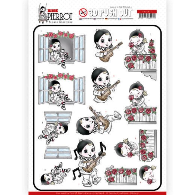 Carte 3D prédéc. - SB10431 - Petit Pierrot - Sérénade