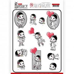 Carte 3D prédéc. - SB10432 - Petit Pierrot - Avec amour