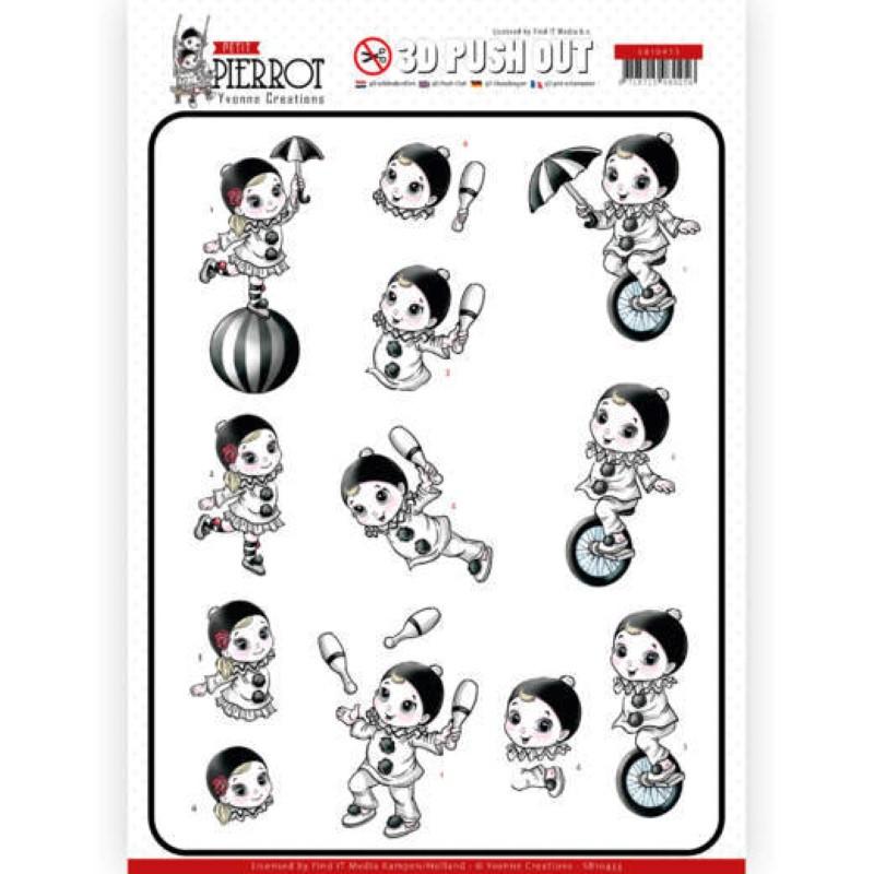 Carte 3D prédéc. - SB10433 - Petit Pierrot - Au cirque
