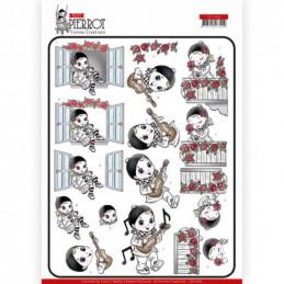 Carte 3D à découper - CD11466 - Petit Pierrot - Sérénade