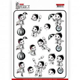Carte 3D à découper - CD11468 - Petit Pierrot - Au cirque