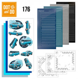 Dot and do 176 - kit Carte 3D  - Voitures bleues