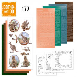 Dot and do 177 - kit Carte 3D  - koalas et Kangourou
