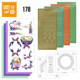 Dot and do 178 - kit Carte 3D  - Lavande