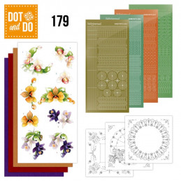Dot and do 179 - kit Carte 3D  - Orchidée