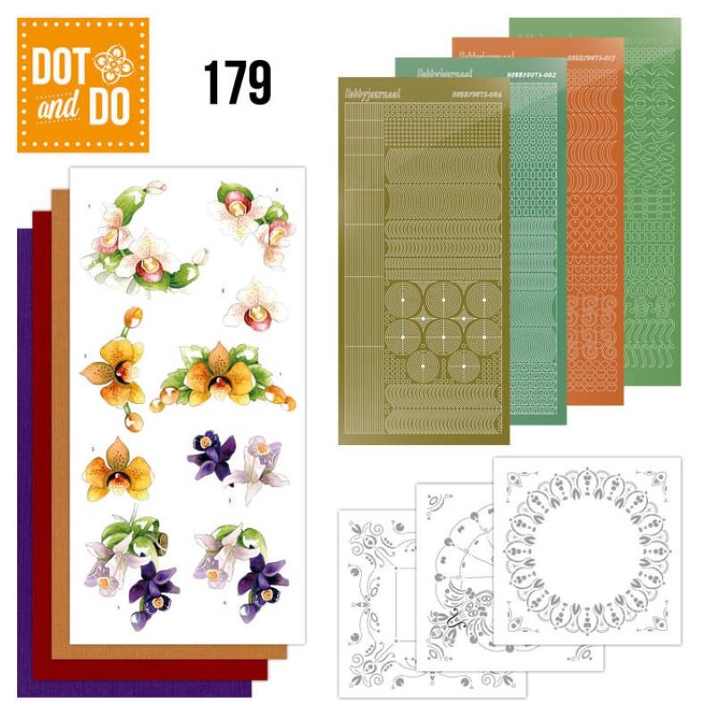 Dot and do 179 - kit Carte 3D  - Orchidée