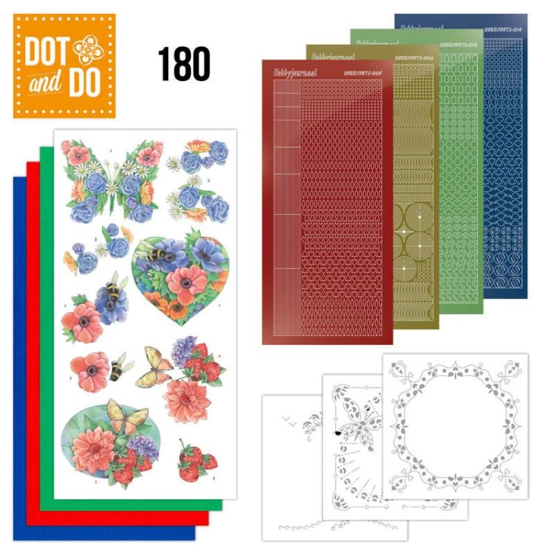 Dot and do 180 - kit Carte 3D  - Fleurs d'été