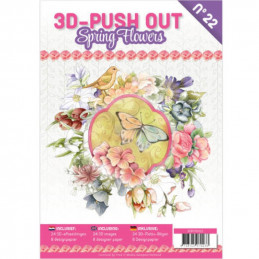Carte 3D livre A4 prédécoupé - Fleurs printemps 24 images + papiers