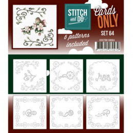 Cartes seules Stitch and do  - Set n°64