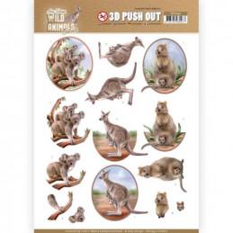 Carte 3D prédéc. - SB10442 - Wild animals - Kangourou