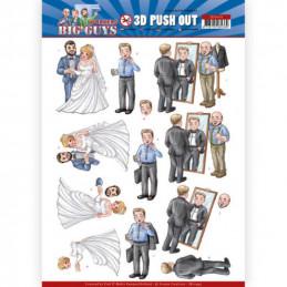 Carte 3D prédéc. - SB10449 - Big guys - Mariage