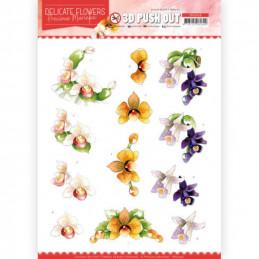 Carte 3D prédéc. - SB10450 - Delicate flowers - Orchidée