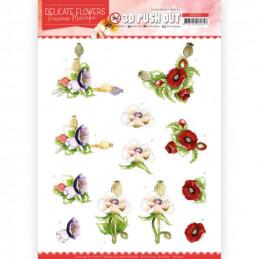 Carte 3D prédéc. - SB10451 - Delicate flowers - Coquelicots