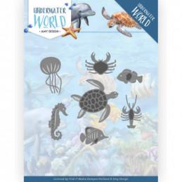 Die - ADD10212 - Underwater world - Animaux marins 10 x 6.2 cm