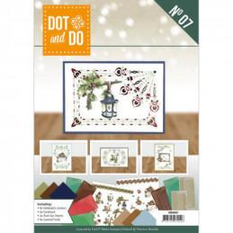 Dot and do Livre n°7 - Kit Carte 3D - Noël