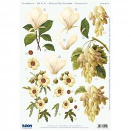 Carte 3D prédéc. - A4 - 82112 - fleurs blanches et jaunes