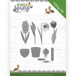 Die - ADD10199 - Botanical Spring - Fleurs et pots