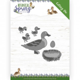 Die - ADD10201 - Botanical spring - Famille canard