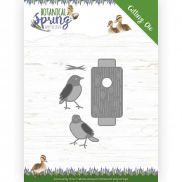 Die - ADD10202 - Botanical spring - Oiseaux et nichoir