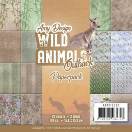 Bloc de papier - Amy Design - Wild animals australie 15.2 x 15.2