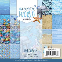 Bloc de papier - Amy Design - Underwater world 15.2 x 15.2