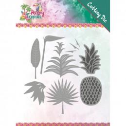Dies - Yvonne Creations - Happy tropics - Feuilles tropicales